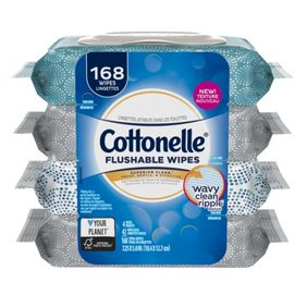 Cottonelle On The Go Wipes 42 Sheets 4 Count Soft Pack Flushable Cleansing Cloths