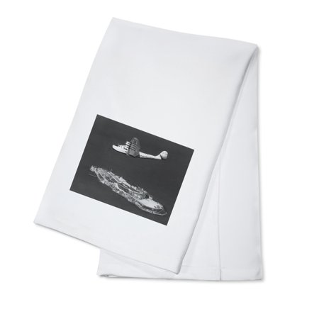 Pan American China Clipper Flying Over Alcatraz Island Photograph (100% Cotton Kitchen Towel) ()