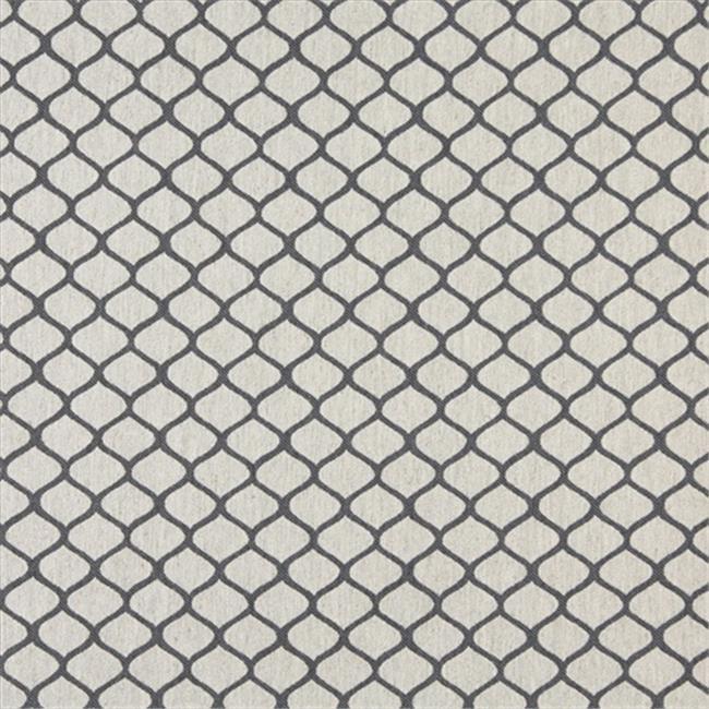 Designer Fabrics K0005B 54 in. Wide Cadet Blue And Off White, Modern, Geometric, Designer Quality Upholstery Fabric