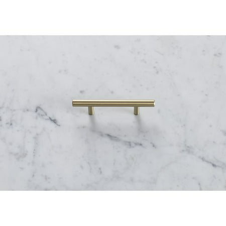 Bar Pulls 3 in (76 mm) Center-to-Center Golden Champagne Cabinet Pull ()