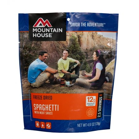 Mountain House - (6 Pack) Spaghetti with Meat Sauce Main Entree Pouch - Halloween Food Entrees