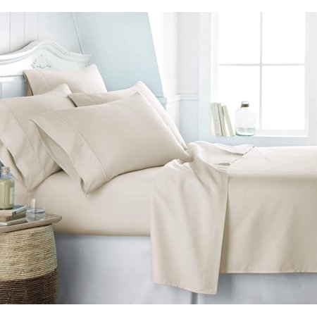 Becky Cameron Soft Comfort Resort Quality 6 Piece Bed Sheet Set   Twin Xl   Cream
