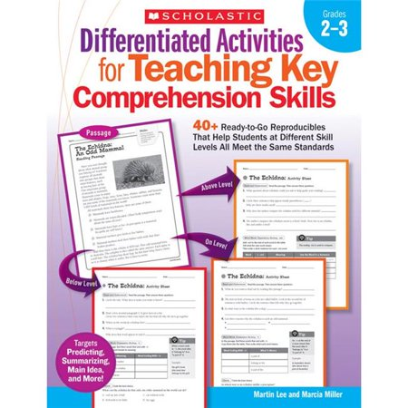 Scholastic Teaching Resources SC-9780545234528BN 2 Each Differentiated Activities Teaching Key Comprehension Skills - Grade 2-3 - image 1 of 1