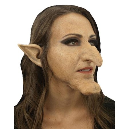 Hazel Halloween Party (Morris Costumes CSWO650 Witch Hazel Kit Nose Chin)