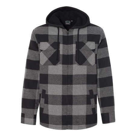 8620 Quilted Flannel Full-Zip Hooded Coat By Burnside