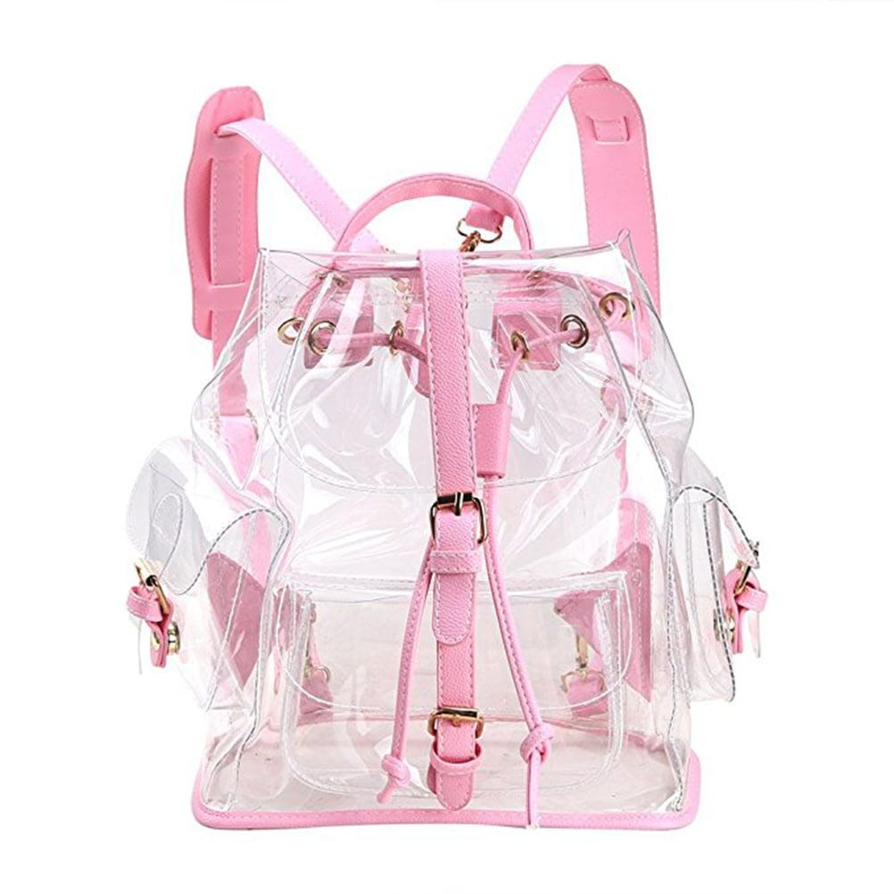 Pixnor Lovely Transparent Backpack Cute School Shoulder B...