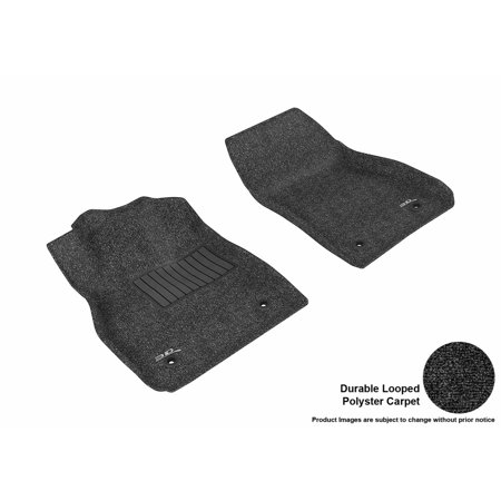 - 3D MAXpider 2013-2015 Chevrolet Malibu Front Row All Weather Floor Liners in Black Carpet