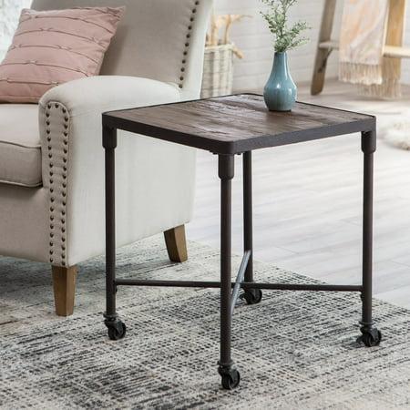 Belham Living Franklin Reclaimed Wood Industrial End Table ()