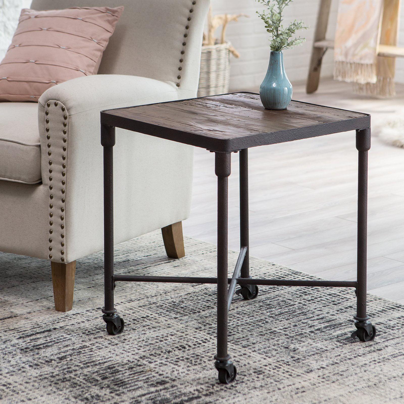 Belham Living Franklin Reclaimed Wood Industrial End Table