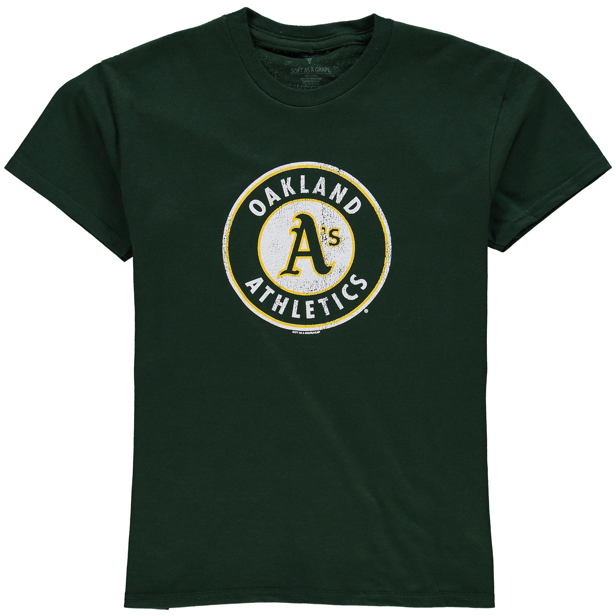 Oakland Athletics Youth Distressed Logo T-Shirt - Green