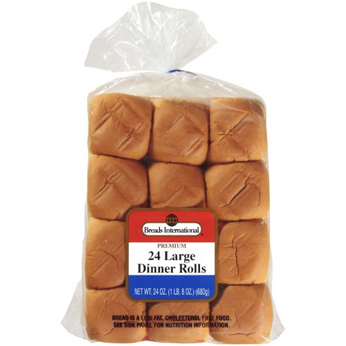 Breads International Large Dinner Rolls, 24 oz