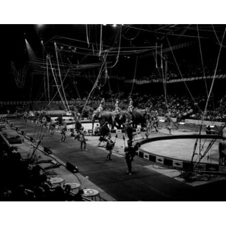 Usa Massachusetts Boston Gardens Barnum And Bailey Ringling Brothers Circus Canvas Art 24 X