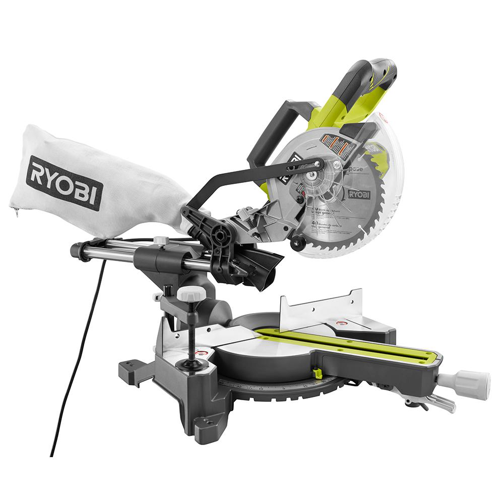 Ryobi 15 Amp 10 in. Sliding Miter Saw with Laser by