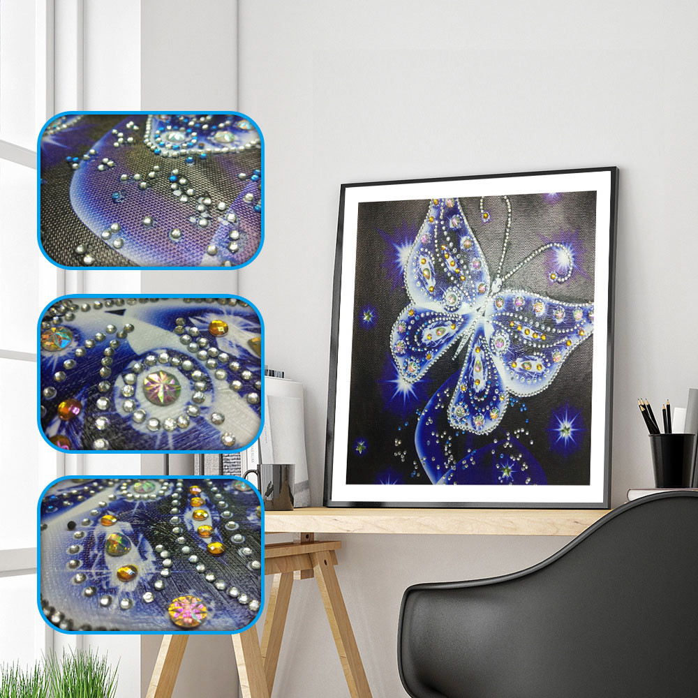 30x40cm Cross Stitch Kits 5d Diamond Art Embroidery Kit Crystal Diamond Painting Kits Full Drill Wall Stickers Arts Crafts for Home Decor Portrait ForgetMe DIY 5D Diamond Painting by Number Kit