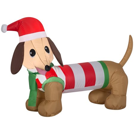 Holiday Time Yard Inflatables Weiner Dog, 4 ft ()
