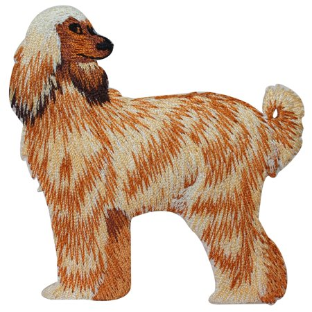 ID 2750 Afghan Hound Dog Patch Fancy Puppy Breed Embroidered Iron On Applique