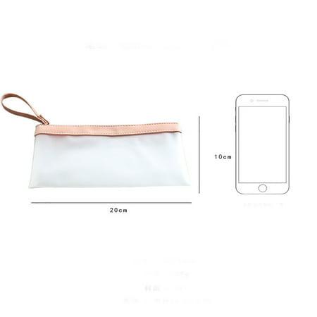 Cute Cartoon Transparent Pencil Bag Brush Wrap Pouch Holder Fashion (Cute Pencil Pouch)