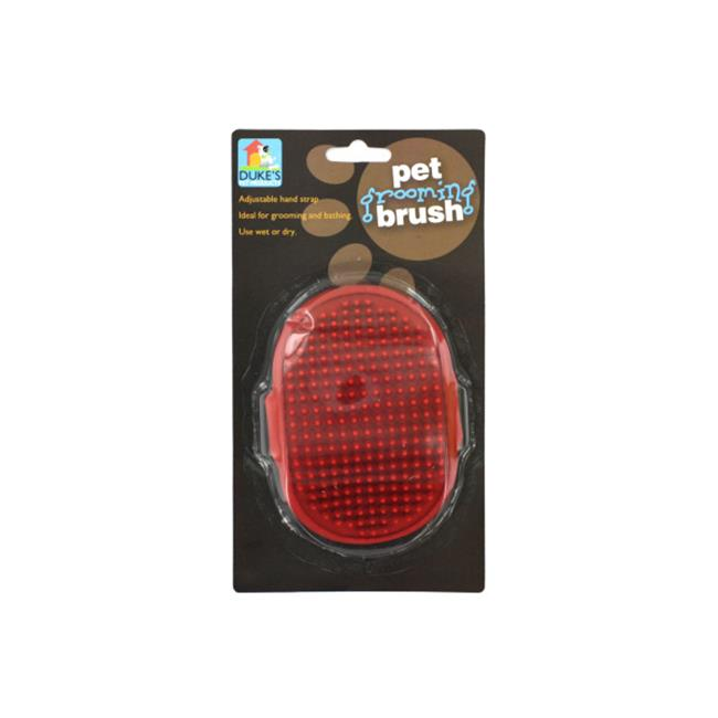 Bulk Buys DI029-72 Red Rubber Pet Grooming Brush On A Blister Card with Hanging Hole - Case of 72 - image 1 de 1