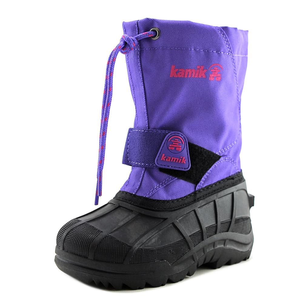 Kamik Reddeer4 Toddler  Round Toe Synthetic Purple Snow Boot