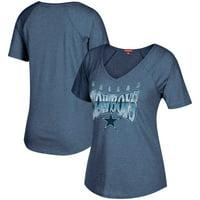 adea18bf28d Product Image Dallas Cowboys Mitchell & Ness Women's Gradient V-Neck T-Shirt  - Navy