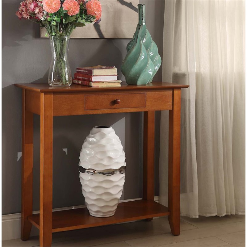 Convenience Concepts American Heritage Console Table in Cherry - image 3 of 3