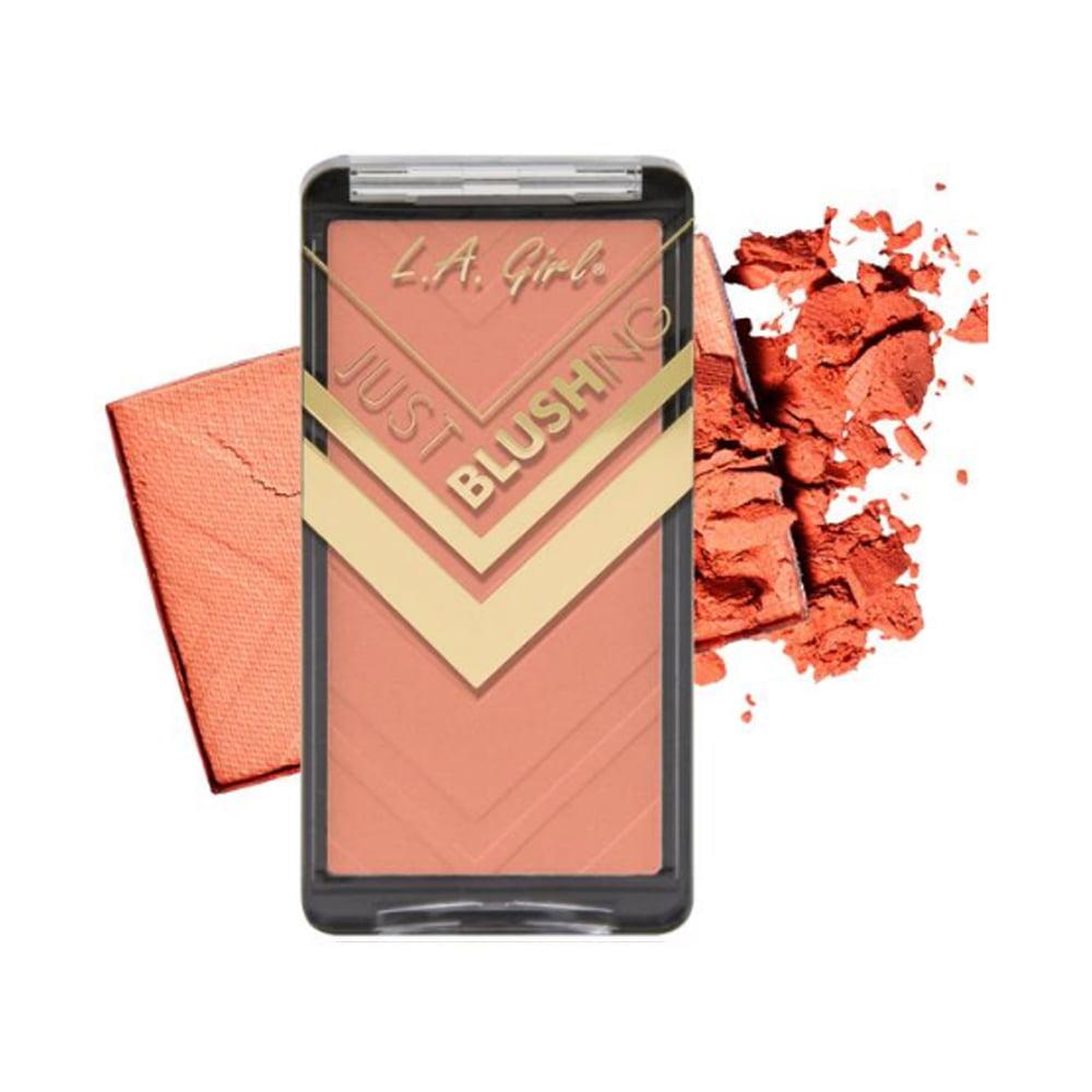 (3 Pack) LA GIRL Just Blushing Powder Blush - Just Peachy