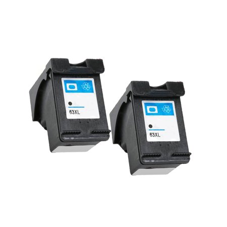 2 Pack Remanufactured with F6U64AN HP 63XL Ink Cartridge ...
