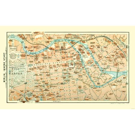 Berlin Germany World Map.International Map Berlin German Baedeker 1914 37 12 X 23