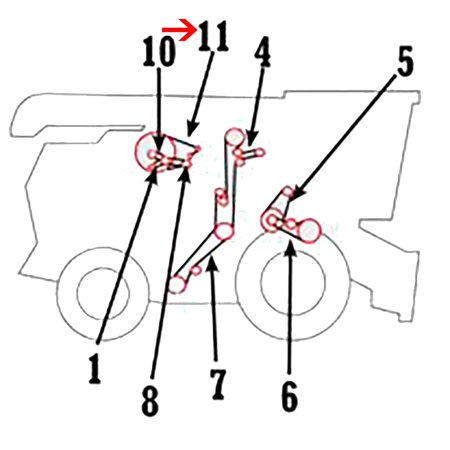 H143869 Rotary Screen New Belt For John Deere Combine 9400