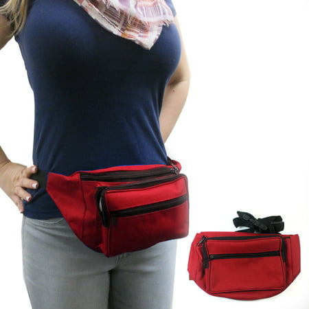 Waist Fanny Pack Adjustable Belt Bag Pouch Travel Sports Hip Purse Nylon Secure