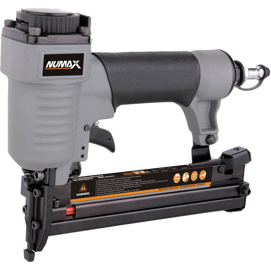 "NuMax SST9032 Pneumatic 18-Gauge 1/4"" Narrow Crown Stapler"