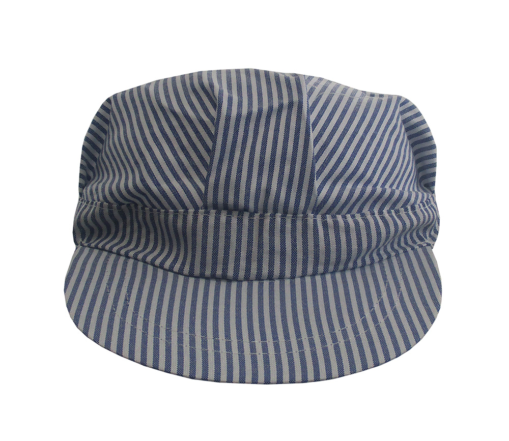 Jacobson Hat Company Adult Engineer Hat,Blue//White,Medium Adjustable Size fits Most