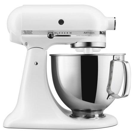 Kitchenaid Series 5 Quart Tilt Head Stand Mixer Matte White Ksm150psfw