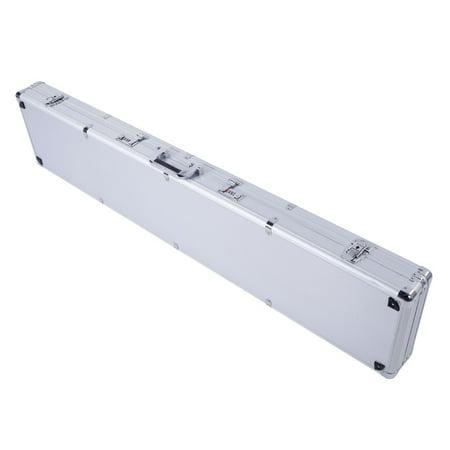 UBesGoo Long Aluminum Locking Gun Rifle HandGun Safe Box Case with 2 Combination Lock Silver