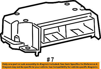 Dodge CHRYSLER OEM Supplemental Restraint System-Diagnostic Module 56043706AF