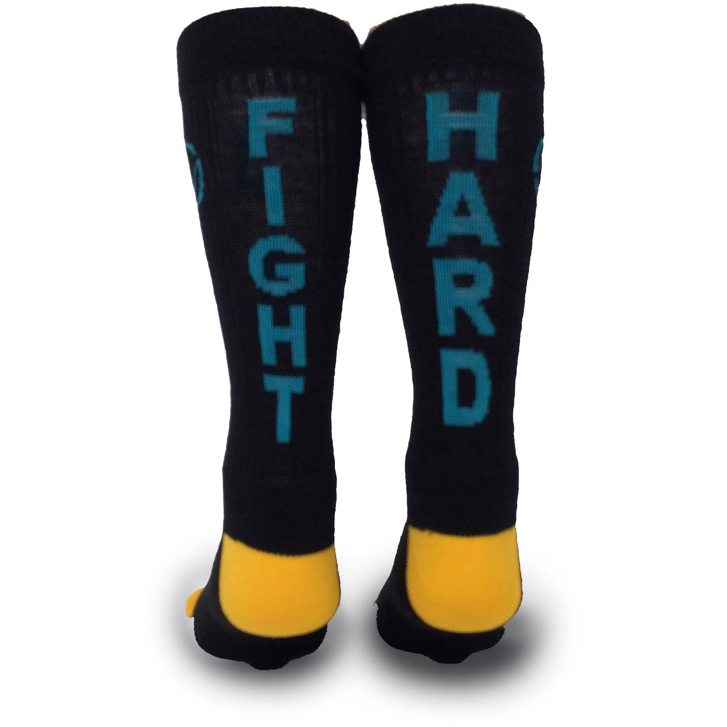 Inspyr Socks Fight Hard Athletic Lifestyle Crew Sock