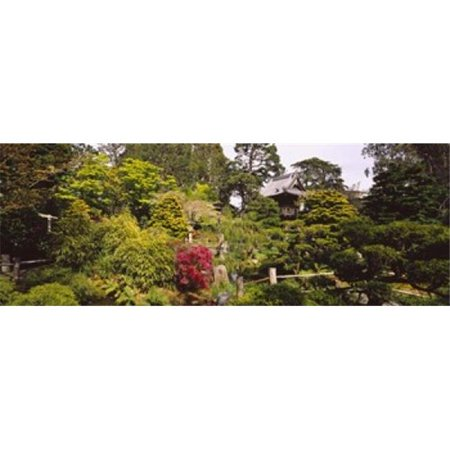Cottage in a park  Japanese Tea Garden  Golden Gate Park  San Francisco  California  USA Poster Print by  - 36 x 12 - image 1 de 1