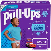 Pull-Ups Boys' Cool & Learn Training Pants, 4T-5T, 74 Ct