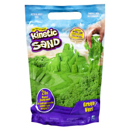 Kinetic Sand the Original Moldable Sensory Play Sand, Green, 2