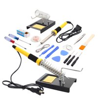 Product Image Ktaxon Soldering Iron Kit, Include Soldering Iron, Stand, Solder, Rosin, Tweezer
