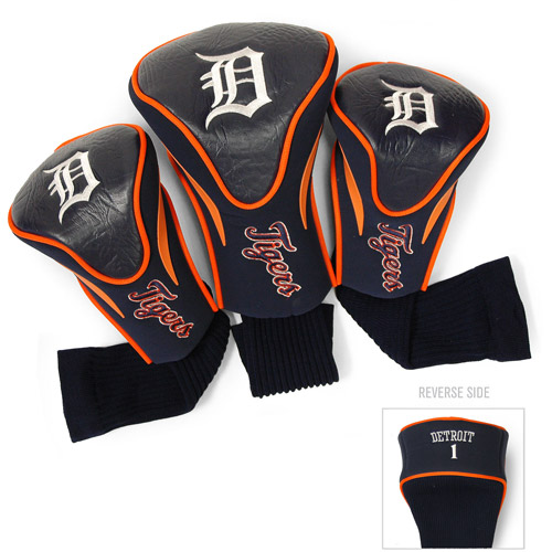 Team Golf MLB Detroit Tigers 3 Pack Contour Head Covers