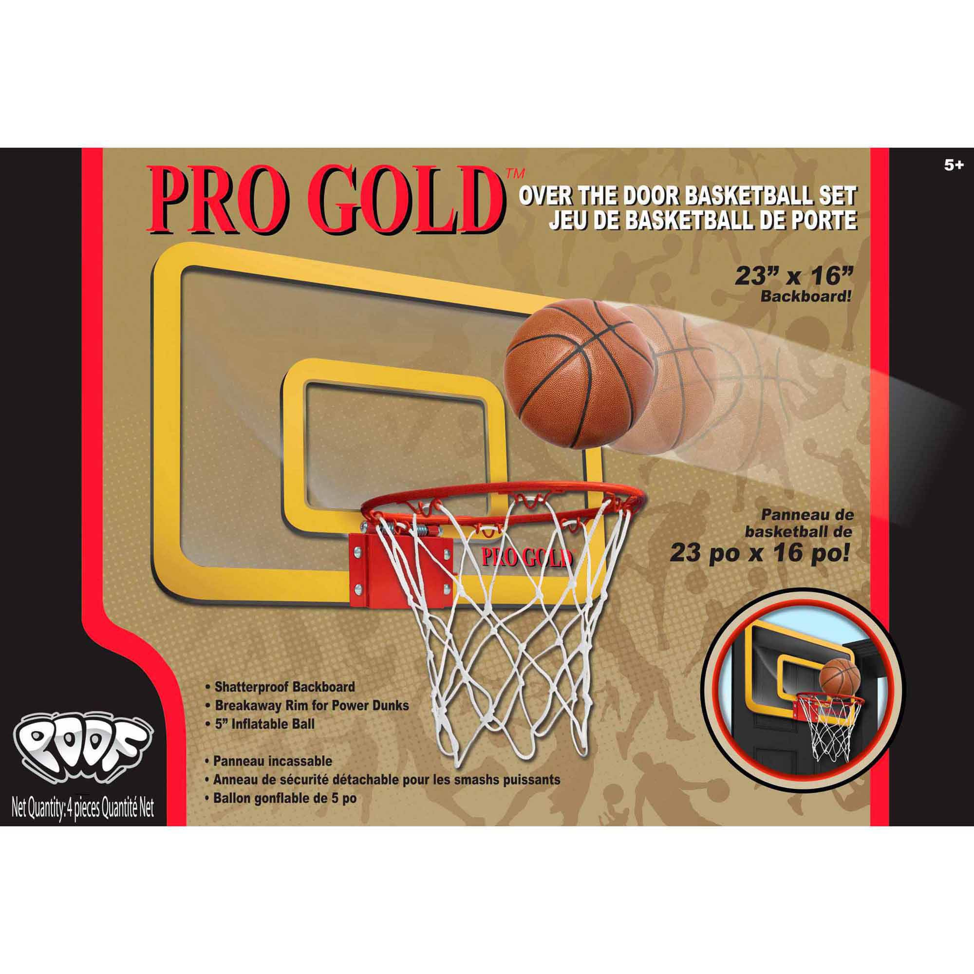 POOF Pro Gold Large Basketball Hoop