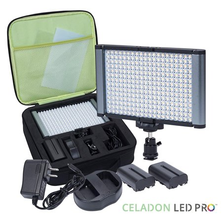Radiant 2XL 280 LED CRI 95 Dimmable Bi Color Flat Panel Kit On Camera Camcorder use with Canon Nikon Panasonic