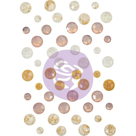 Pretty Pale Say It In Crystals Adhesive Embellishments-Assorted Dots 48/Pkg - image 1 of 1