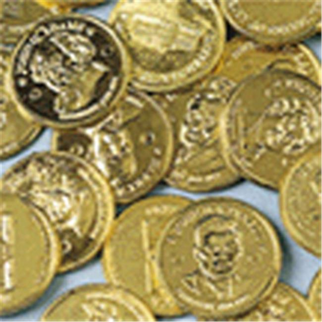 US Toy Company 136 Presidential Gold Coins - Sold By Gro - Pack of 144
