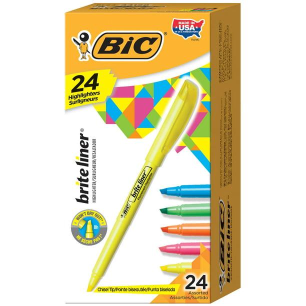 Chisel Tip BIC Brite Liner Highlighter Green 12-Count