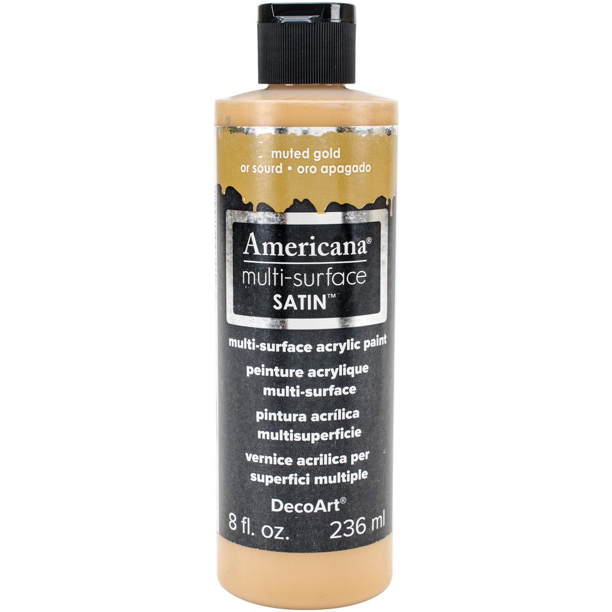 Americana Multi-Surface Satin Acrylic 8oz-Muted Gold
