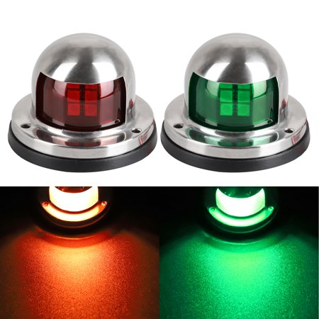 EEEkit LED Navigation Lights Deck Mount Marine Sailing Lights for Boat, Pontoon, Yacht, Skeeter, Sailing Signal Lights, Bow Side,Port, Starboard, DC