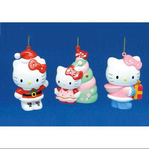 Club Pack of 36 Hello Kitty Santa Claus, Tree and Present Christmas Ornaments