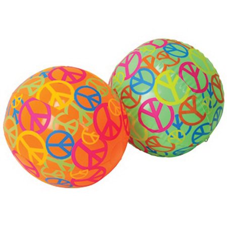 US TOY IN388 Peace Sign Beachballs - Peace Sigh